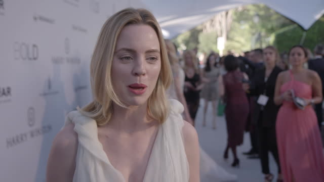interview melissa george on being at amfar on leonardo dicaprio auctioning his house at amfar's 23rd cinema against aids gala arrivals at hotel du... - melissa george stock videos & royalty-free footage