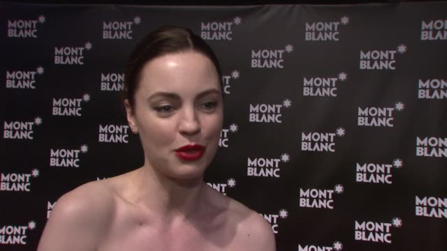 melissa george on being out tonight on why she likes john lennon on his legacy on enjoying fashion week at the global launch of the montblanc john... - melissa george stock videos & royalty-free footage