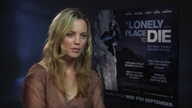melissa george on different locations she's worked on at the a lonely place to die at london england - melissa george stock videos & royalty-free footage