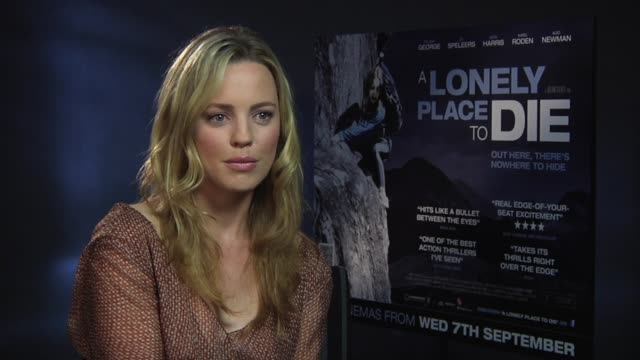 melissa george on her character at the a lonely place to die at london england - melissa george stock videos & royalty-free footage