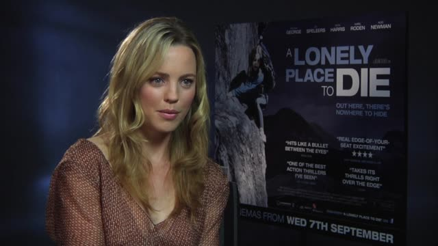 melissa george on her exciting days on set at the a lonely place to die at london england - melissa george stock videos & royalty-free footage