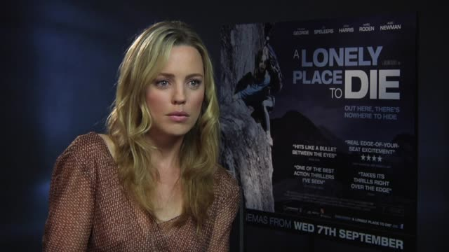 melissa george on the stunts she was allowed to do at the a lonely place to die at london england - melissa george stock videos & royalty-free footage