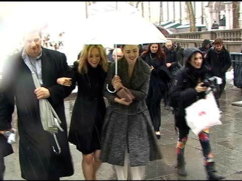 melissa george outside the max azria show at new york fashion week at the celebrity sightings in new york at new york ny - melissa george stock videos & royalty-free footage