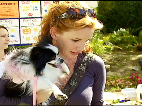 melissa gilbert at the dine with your dog day at the hyatt regency century plaza in century city, california on october 19, 2006. - melissa gilbert stock videos & royalty-free footage