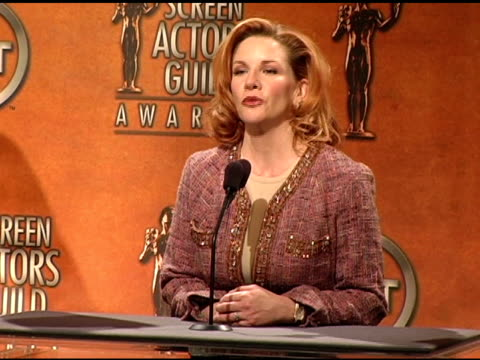 melissa gilbert, president, sag at the 2005 screen actors guild sag awards nominations announcements at pacific design center in west hollywood,... - melissa gilbert stock videos & royalty-free footage