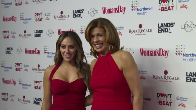 melissa gorga, hoda kotb at woman's day celebrates 16th annual red dress awards at appel room on february 12, 2019 in new york city. - hoda kotb stock videos & royalty-free footage