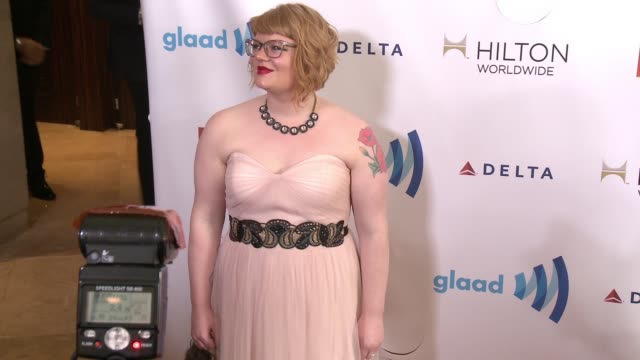 stockvideo's en b-roll-footage met melissa griffiths at the 25th annual glaad media awards at the beverly hilton hotel on april 12 2014 in beverly hills california - beverly hilton hotel