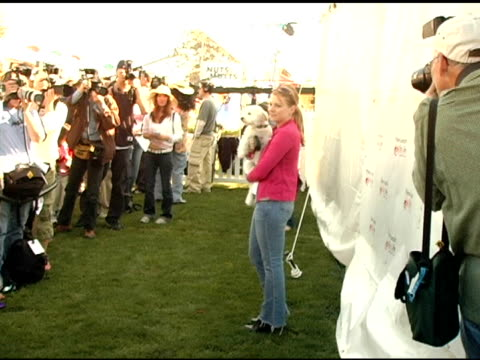 Melissa Joan Hart and dog Copper at the 4th Annual Nuts For Mutts Event at Pierce College in Woodland Hills California on April 3 2005