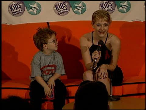 Melissa Joan Hart at the 1997 Nickelodeon Kids' Choice Awards press room at Grand Olympic Auditorium in Los Angeles California on April 19 1997