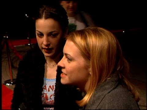 melissa joan hart at the 200 cigarettes premiere at paramount studios in hollywood california on february 10 1999 - paramount studios stock videos and b-roll footage