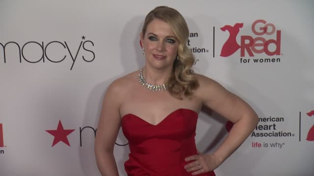 melissa joan hart at the american heart association's go red for women red dress collection 2018 presented by macy's at hammerstein ballroom on... - melissa joan hart video stock e b–roll