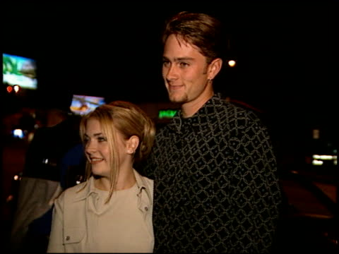 melissa joan hart at the birthday party for randy spelling at bar one in west hollywood, california on october 10, 1996. - melissa joan hart video stock e b–roll