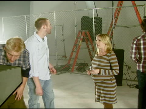 melissa joan hart at the 'course of nature' music video shoot at ben kitay studio in hollywood, california on october 22, 2007. - melissa joan hart video stock e b–roll