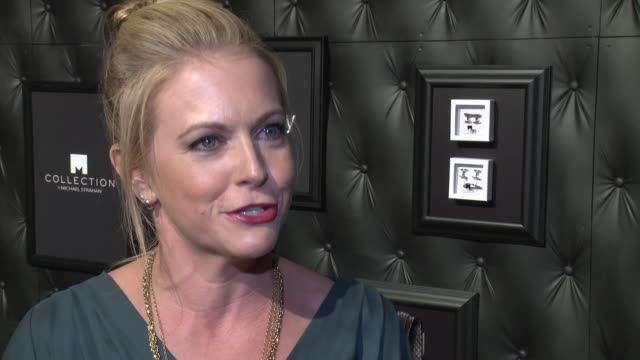 INTERVIEW Melissa Joan Hart discusses Michael Strahan's popularity at JCPenney And Michael Strahan Launch Collection By Michael Strahan at ArtBeam on...