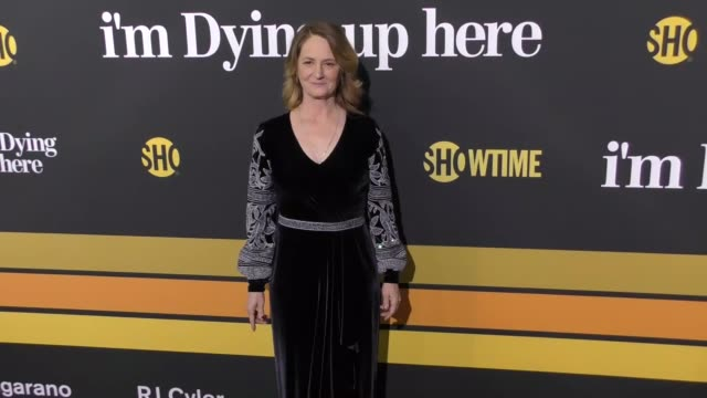 melissa leo at the premiere of showtime's 'i'm dying up here' - arrivals on may 31, 2017 in los angeles, california. - showtime video stock e b–roll
