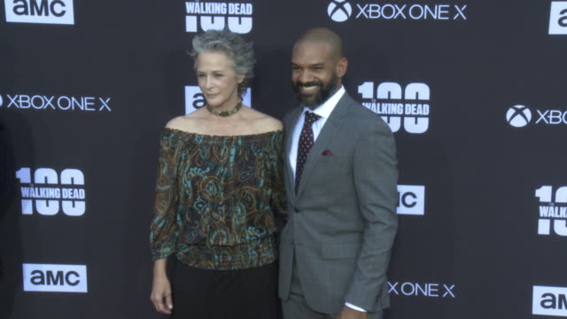 Melissa McBride and Khary Payton at the AMC's The Walking Dead 100th Episode Season 8 Special Premiere Screening at The Greek Theatre on October 22...
