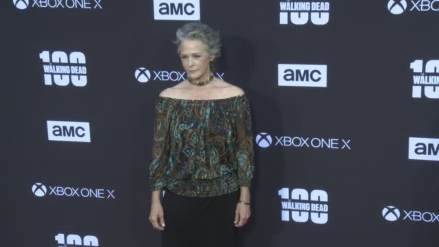 Melissa McBride at the AMC's The Walking Dead 100th Episode Season 8 Special Premiere Screening at The Greek Theatre on October 22 2017 in Los...