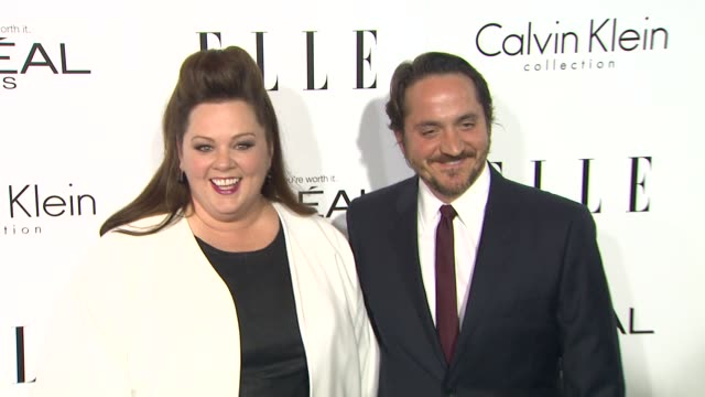"""melissa mccarthy and ben falcone at 20th annual elle """"women in hollywood"""" in beverly hills, ca on 10/21/13 . - ben falcone stock videos & royalty-free footage"""