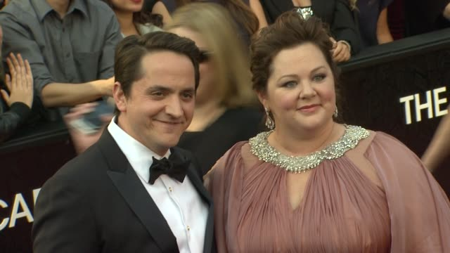 melissa mccarthy and ben falcone at 84th annual academy awards - arrivals on 2/26/12 in hollywood, ca. - ben falcone stock videos & royalty-free footage