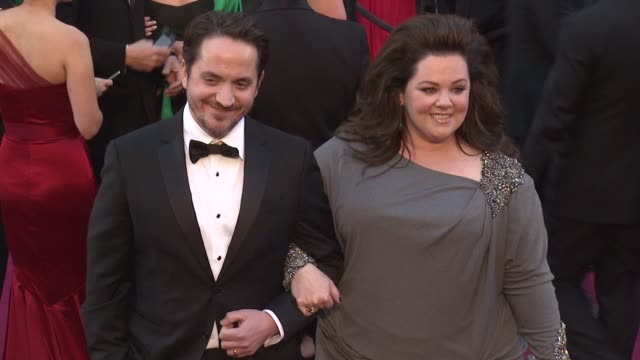 melissa mccarthy and ben falcone at 85th annual academy awards - arrivals in hollywood, ca, on 2/24/13. - ben falcone stock videos & royalty-free footage