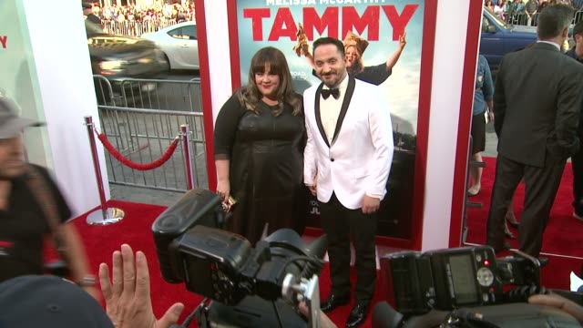 """melissa mccarthy and ben falcone at the """"tammy"""" los angeles premiere at tcl chinese theatre on june 30, 2014 in hollywood, california. - ben falcone stock videos & royalty-free footage"""