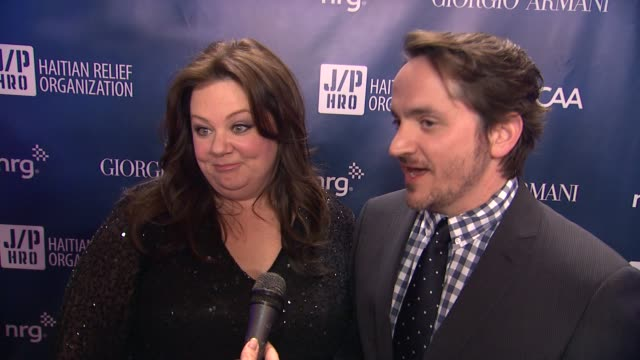 INTERVIEW Melissa McCarthy and Ben Falcone on the Golden Globes at Sean Penn Friends HELP HAITI HOME A Gala to Benefit J/P Haitian Relief...