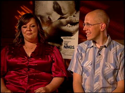 Melissa McCarthy and writer John August discuss the actors having to play multiple characters in the film at the 'The Nines' Press Junket on August...
