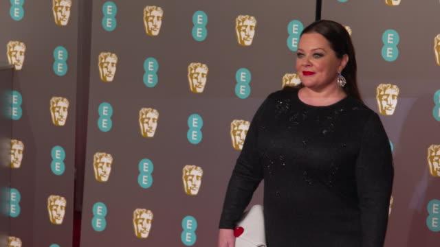 melissa mccarthy at ee british academy film awards 2019 at royal albert hall on february 10, 2019 in london, england. - メリッサ・マッカーシー点の映像素材/bロール