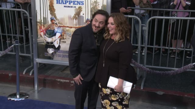 """melissa mccarthy, ben falcone at """"chips"""" premiere in los angeles, ca 3/20/17 - ben falcone stock videos & royalty-free footage"""