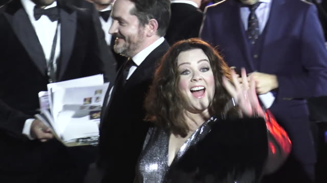 melissa mccarthy & ben falcone at the 30th annual palm springs international film festival awards gala in palm springs in celebrity sightings in palm... - ben falcone stock videos & royalty-free footage