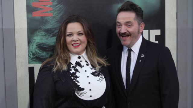 """melissa mccarthy & ben falcone at the world premiere of """"the kitchen"""" - ben falcone stock videos & royalty-free footage"""