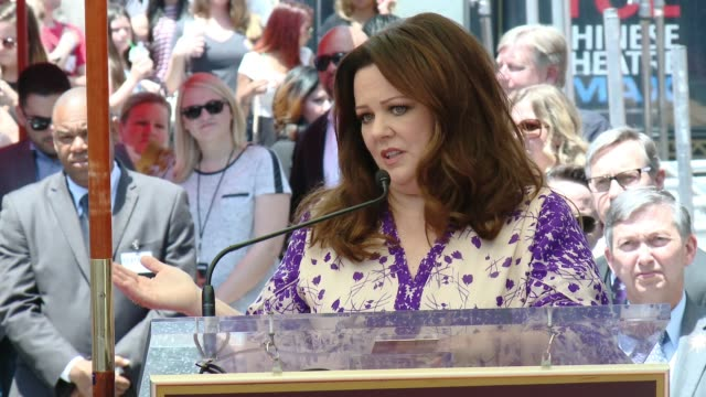 clean melissa mccarthy honored with star on the hollywood walk of fame at hollywood walk of fame on may 19 2015 in hollywood california - ellen degeneres stock-videos und b-roll-filmmaterial