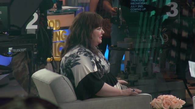Melissa McCarthy interviewed on the Good Morning America show Celebrity Sightings in New York on June 25 2014 in New York City