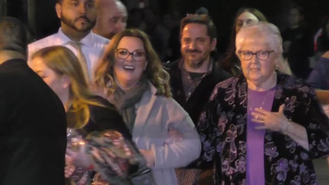 Melissa McCarthy leaves Jimmy Kimmel Live at El Capitan Theater in Hollywood in Celebrity Sightings in Los Angeles