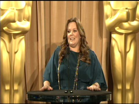 Melissa McCarthy on being a nominee at the 84th Academy Awards Nominations Luncheon in Beverly Hills CA on 2/6/12