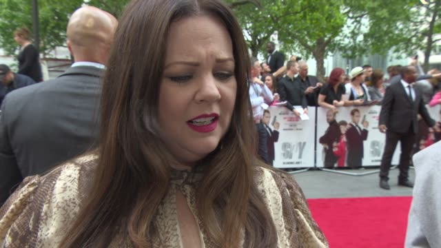 INTERVIEW Melissa McCarthy on making movies on real females Miranda Hart making 'Ghostbusters' at 'Spy' Premiere at Odeon Leicester Square on May 27...