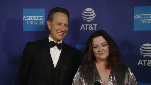 vídeos de stock e filmes b-roll de melissa mccarthy & richard e. grant on how it feels to be part of psiff, what makes this festival different from others, what it means to be... - richard e. grant