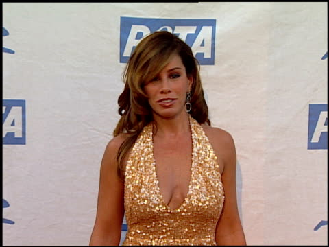 melissa rivers at the peta's 25th anniversary gala and humanitarian awards show at paramount studios in hollywood california on september 10 2005 - 25th anniversary stock videos and b-roll footage