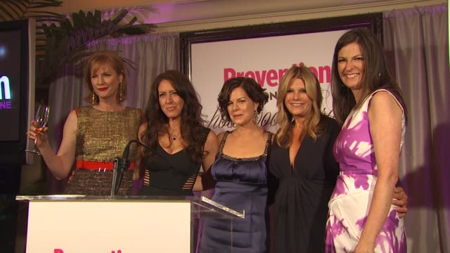 melissa rosenberg joely fisher marcia gay harden lisa paulsen and mary murcko at the prevention magazine's 1st annual hollywood heroes soiree at... - joely fisher stock videos and b-roll footage
