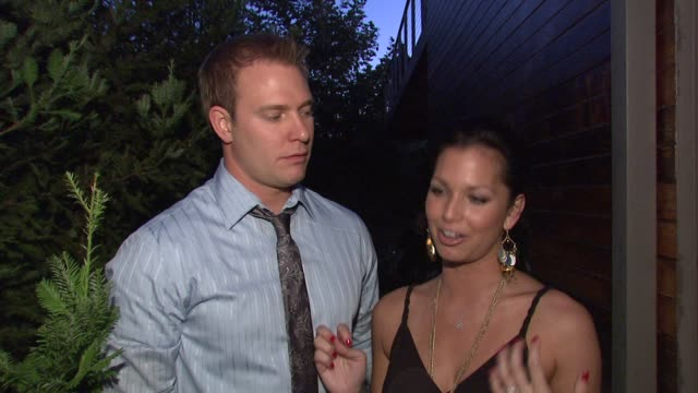 melissa rycroft tye strickland on the evening why they wanted to be a part of the night what they think of the feed backpack and where they'd wear it... - evening wear stock videos & royalty-free footage