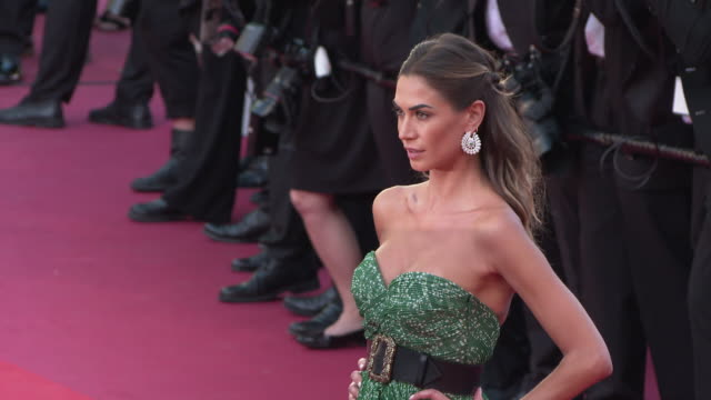 melissa satta at 'les miserables' red carpet arrivals the 72nd cannes film festival on may 15 2019 in cannes france - cannes video stock e b–roll