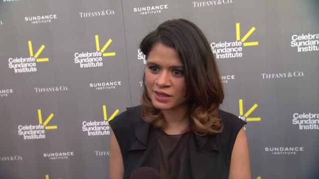 interview melonie diaz on ryan koogler being honored tonight on what the sundance institute has meant to her at 3rd annual 'celebrate sundance... - ryan coogler stock videos and b-roll footage