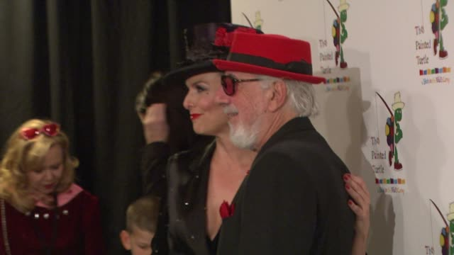 melora hardin and lou adler at the the rocky horror picture show 35th anniversary to benefit the painted turtle at los angeles ca. - melora hardin stock videos & royalty-free footage