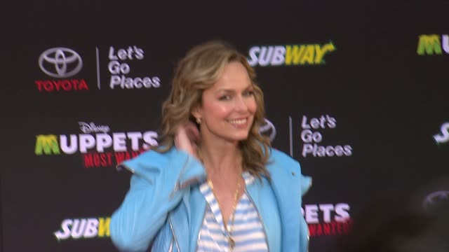 "melora hardin at disney's ""muppets most wanted"" los angeles premiere at the el capitan theatre on march 11, 2014 in hollywood, california. - melora hardin stock videos & royalty-free footage"