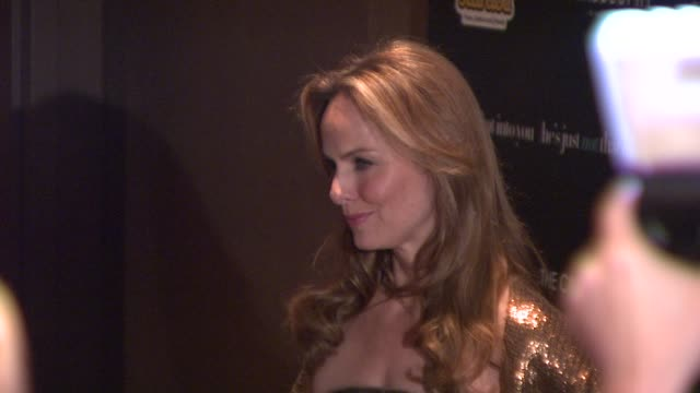 melora hardin at the cinema society presents special screening of he's just not that into you at new york ny. - melora hardin stock videos & royalty-free footage