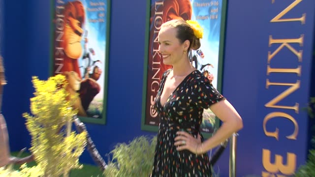 melora hardin at the walt disney studios presents the world premiere of 'the lion king 3d' at hollywood ca. - melora hardin stock videos & royalty-free footage