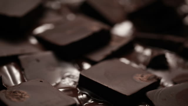 melting chocolate blocks - block shape stock videos & royalty-free footage