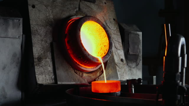 melting gold in the gold foundry - foundry stock videos & royalty-free footage