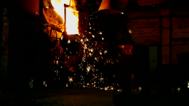 melting metal in the foundry - furnace stock videos & royalty-free footage