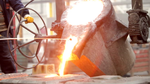Melting Metal in the Foundry